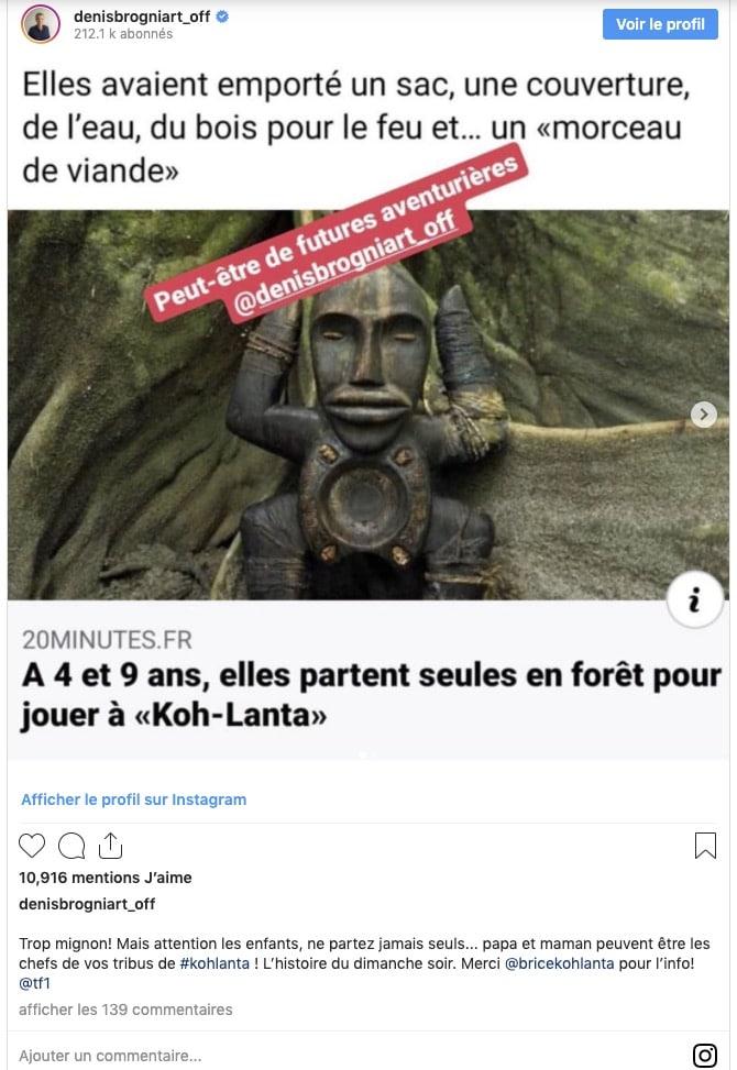 Denis Brogniart Instagram