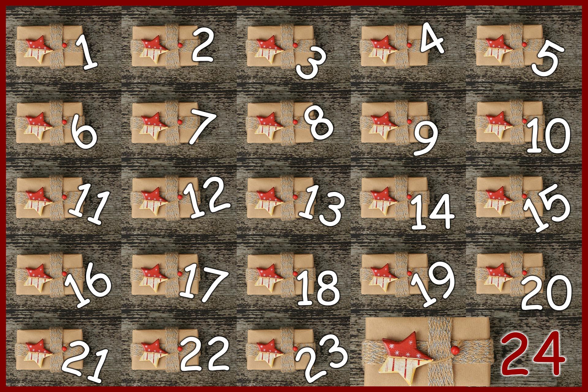 Toutes nos découvertes pour le meilleur calendrier de l'Avent à 3, 4, 5 et 6 ans !