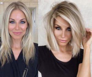 Femme blonde aux cheveux