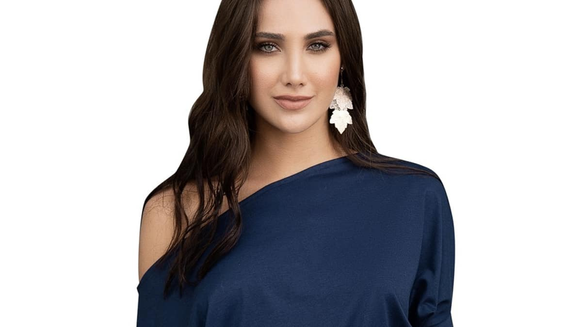 Robe bleu marine et noire