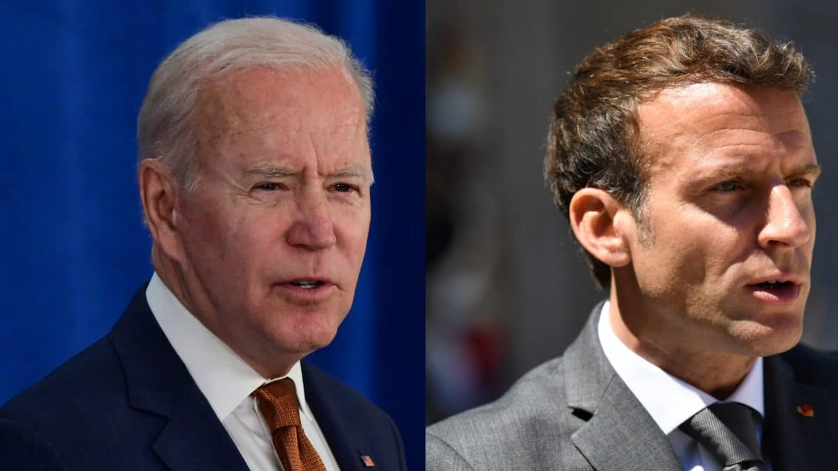 Crise des sous-marins : les opposants d'Emmanuel Macron le crucifient suite à son échange avec Joe Biden!