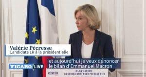 Présidentielle de 2022: Valérie Pécresse étrille Emmanuel Macron et fait le bilan d'un «quinquennat pour presque rien»!