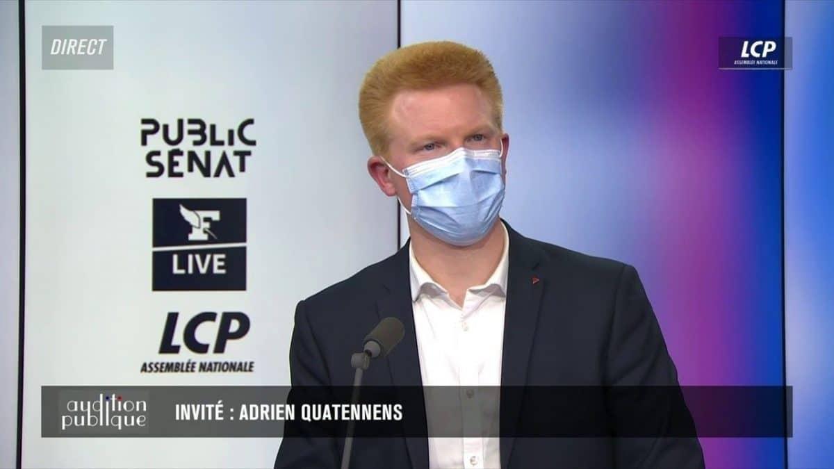 L'appel d'Adrien Quatennens à Fabien Roussel